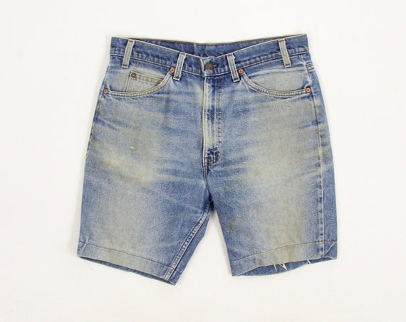 Levi's Jean Shorts 70's Orange Tab Men's Dark Wash Jorts Levi's 517 Made in the USA Size 34
