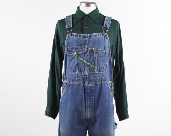 Key Imperial Overalls Denim Vintage Jean Overalls Vintage Sized Medium