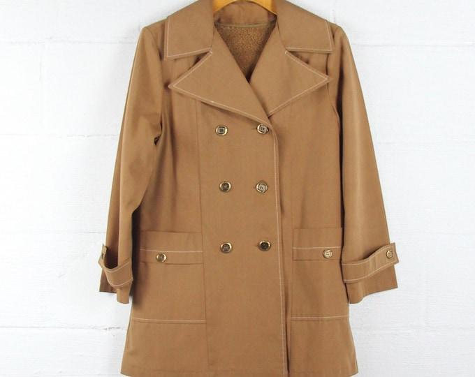Women's Winter Coat Vintage Sears Double Breasted 70s Jacket Size Medium