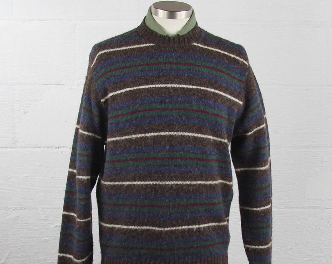 Pendleton Striped Sweater Virgin Wool Vintage Size Medium Made in USA