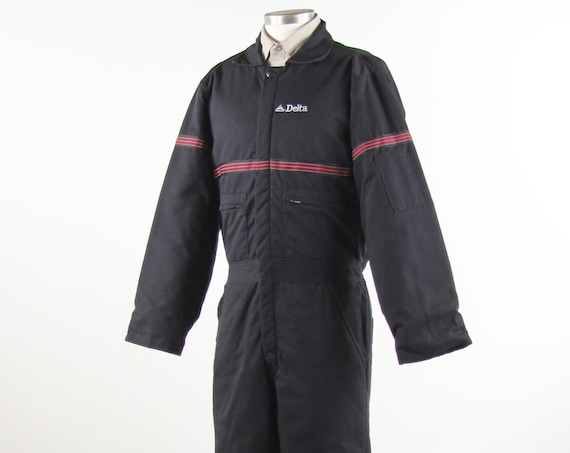 Delta Airlines Coveralls Men's Insualted Winter Suit Vintage Size Small Medium