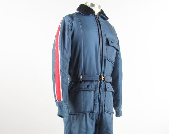 60's Men's Ski Coveralls by Penney's Work Suit Winter Snow Suit Vintage Size Medium
