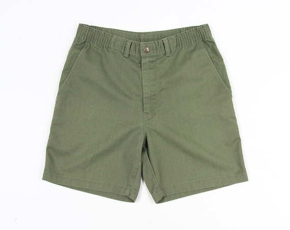 Green Boy Scout Vintage Shorts Size 32 Made in USA