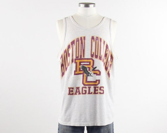 Boston College Tank Top Eagles 90s Sports T-shirt Vintage Size Medium