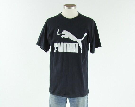 "Fuma Smoke Weed Marijuana T-shirt ""Puma"" Funny Vintage Tee Size Medium"
