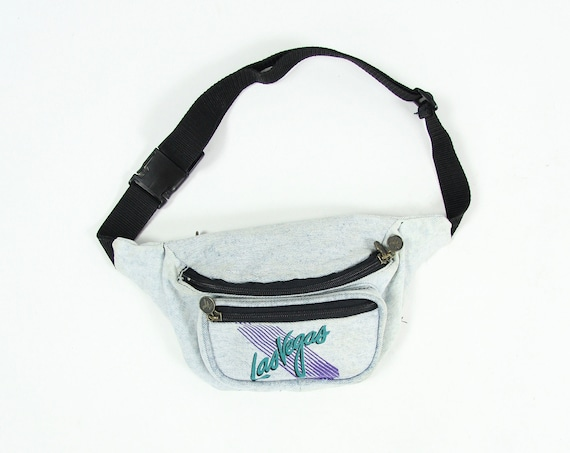 80's Las Vegas Denim Fanny Pack Vintage One Size