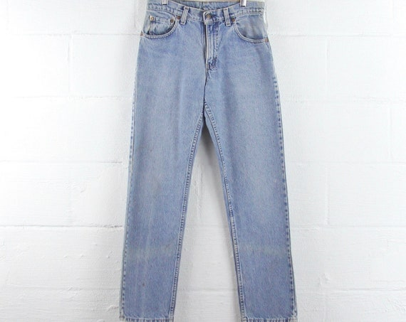Levi's Vintage 505 Light Wash Jeans Grunge 30 x 31