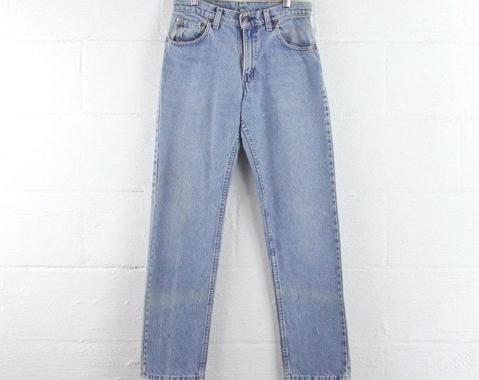 Levi's Vintage 505 Light Wash Jeans Grunge 30 x 31