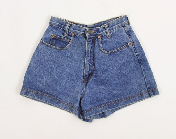 Lei Jean Shorts Dark Wash High Waisted Women's Denim Shorts Jorts Size 5 Made in the USA