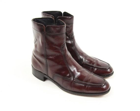 Florsheim Maroon Red Chelsea Boots Vintage Men's Size 8