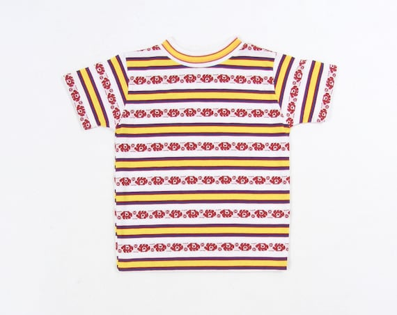 Kids 70's Striped Colorful Vintage T-shirt Size 6