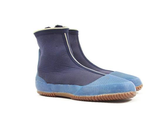 Blue Ankle Boot Water Shoes Scuba Diving Boot Vintage Men's Size 8.5 / 9