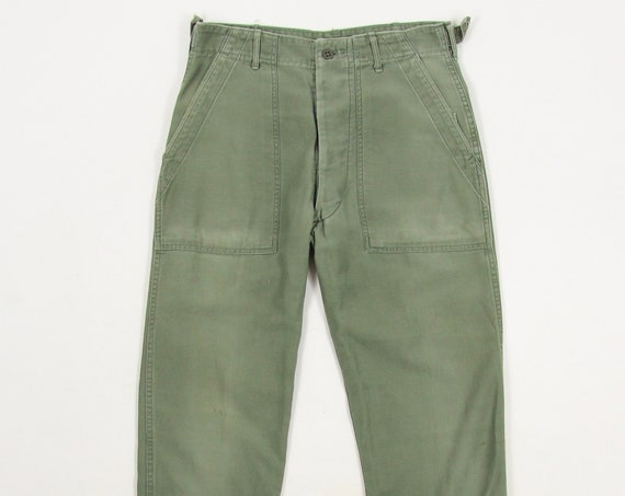 Faded Military Green Trousers
