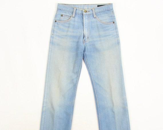 70's Brittana Light Wash Unisex Jeans Vintage Size 28x28