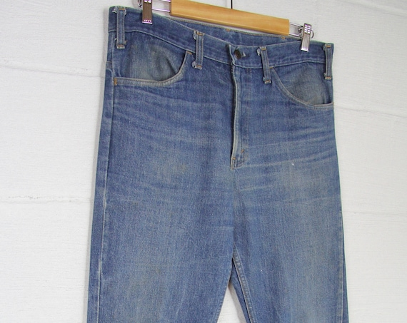 Men's 70's Boot Cut Denim Jeans JC Penny 35 Large