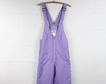 Vintage 80's Purple Vintage Ski Bibb Overalls Women's Small Medium