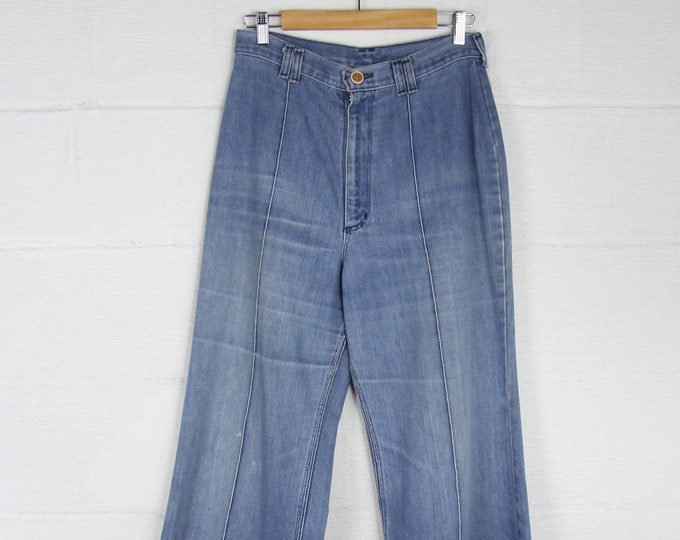 70s High Waisted Bell Bottoms Women's Elephant Pants Maverick Size 29 Waist