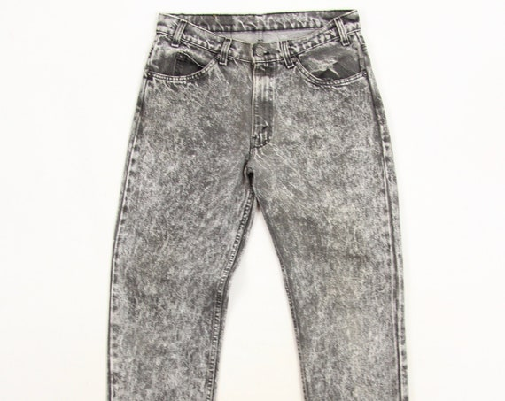 Levi's 505 Jeans Vintage Grey Stone Wash Acid Wash 90's Grunge Jeans Size 32x30.5