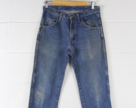 Men's Vintage Rustler Jeans with Darning 29 x 30