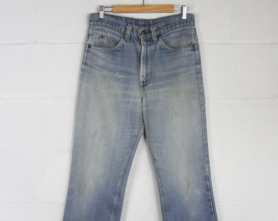 Men's Levi's Orange Tab 70s Light Faded Boot Cut Denim Jeans 32 x 31.5