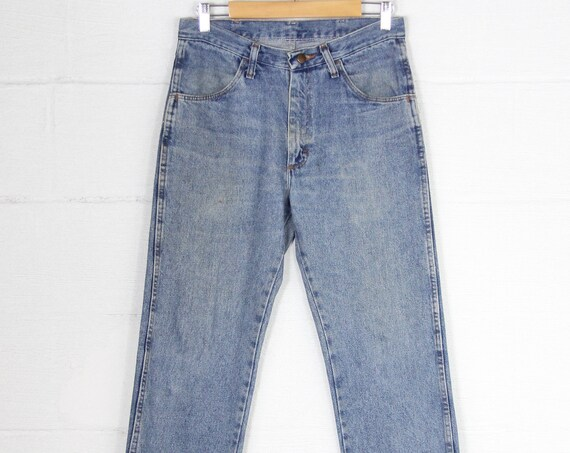 bd3bd306161 ... Men's Vintage Rustler Light Wash Jeans Straight Leg Denim Size 31 ...
