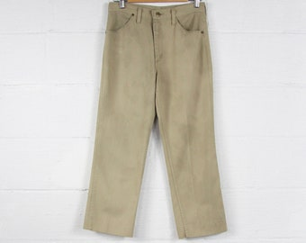 Men's Khaki Pants Rustler Vintage Work Slacks High Water Trouser Jeans Size 29 x 25