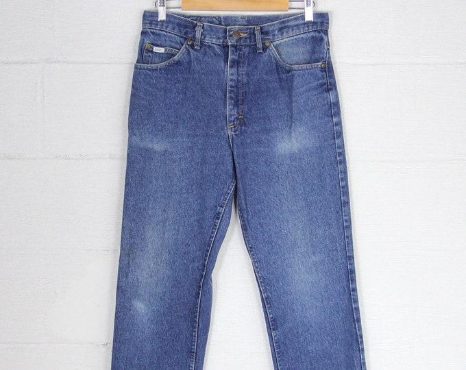 Lee Riders Dark Faded Denim Jeans Made in the USA Vintage Size 32x34