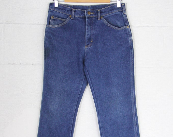 Lee Riders Dark Wash 5 Pocket Straight Leg 70's Denim Jeans Vintage Size 31