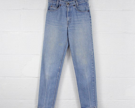 Orange Tab Levis 705 Vintage Jeans Light Wash Tapered High Waisted Pants Tag Size 29x30