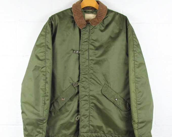 Korean War Thick Military Insulated Vintage Men's Jacket Size Large
