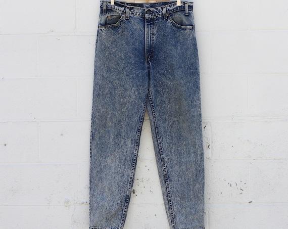 Levi's Orange Tab Women's 550 Acid Wash Stone Wash 80s Denim Jeans Made in USA