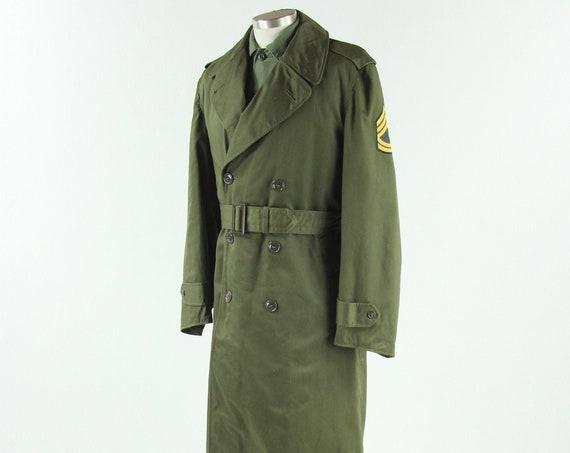 Men's OG-107 Military Trench Coat Winter Jacket Size Small Regular