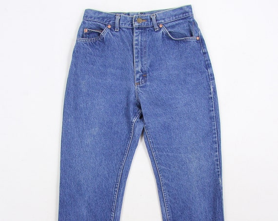 Lee High Waisted Jeans Tapered 90's Vintage Denim Pants Size 12 28.5 x 28.5