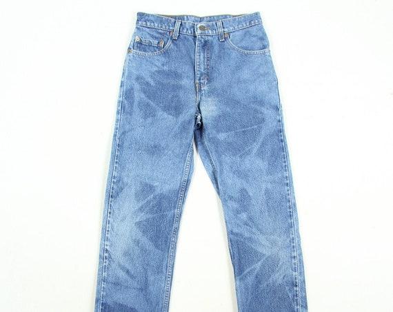 Levi's 501 Acid Wash Button Fly Cotton Blue Jeans Vintage Size 29 x 31.5