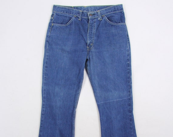 Levi's 646 Orange Tab Jeans Bootcut Bell Bottoms 70's Vintage Denim Pants Size 33 x 29
