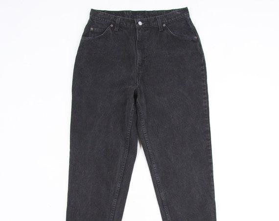 Levi's 921 Black Denim Jeans Women's Pants Vintage Size 16 Med Made in USA 32x30