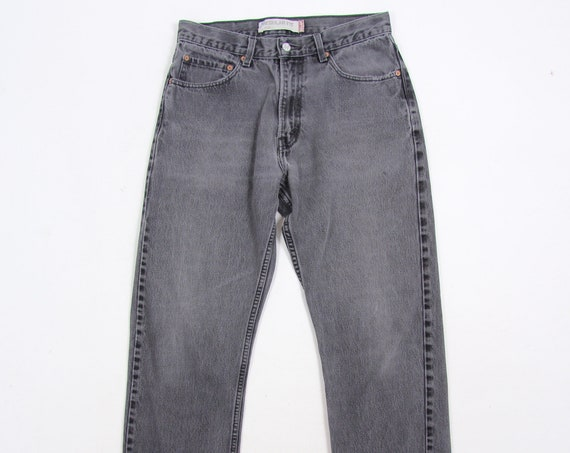 RESERVED Levi's 505 Grey Distressed Zipper Fly Vintage Denim Jeans Men's Pants Size 31 x 29
