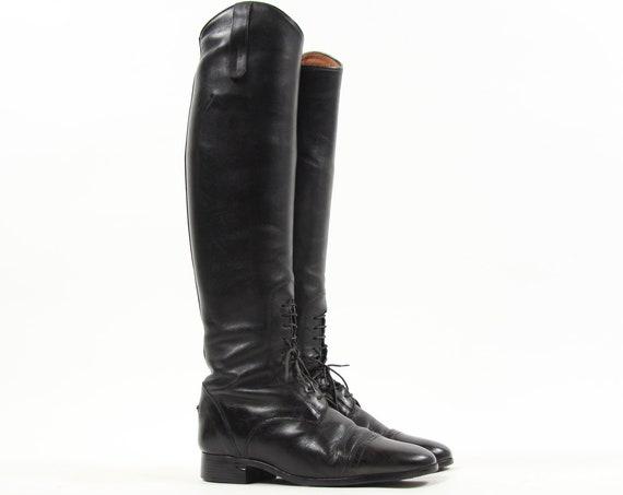 Women's Black Ariat Riding Boots Vinage Size 7 Medium / Slim