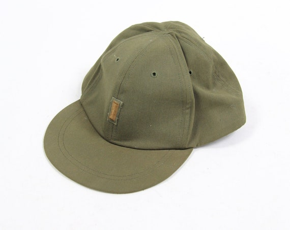 1962 Vietnam Military Green Vintage Hat Cap Field OG-106 7 3/8 Hat Second Lieutenant