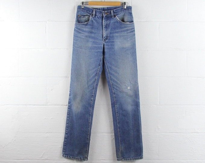 Lee 70s Vintage Jeans Light Wash Faded Distressed 31 x 33