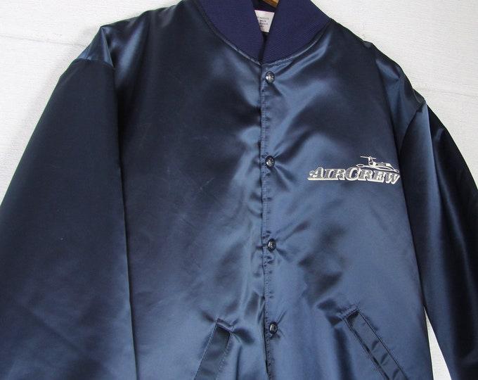 Vintage Coach Bomber Jacket Aircrew Navy Blue Sport Jacket Coat Size Large