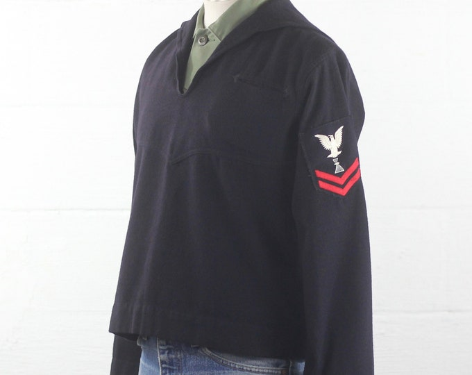Men's Wool Navy Military Shirt Small Medium