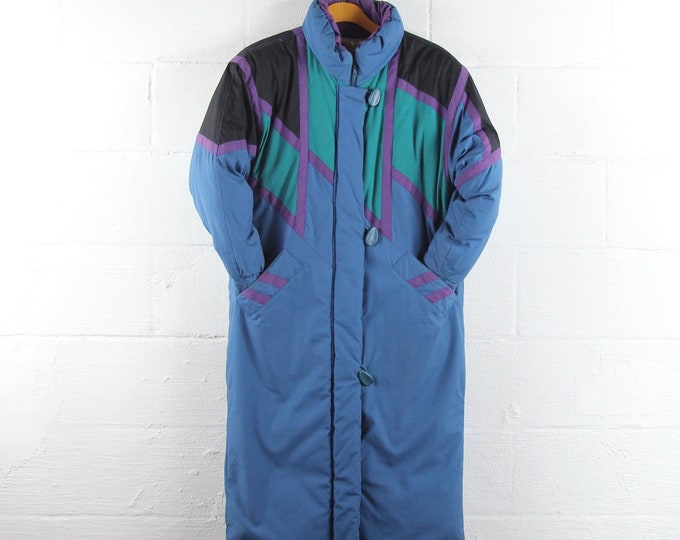 80s Ski Jacket Winter Down Feather Coat Women's Small