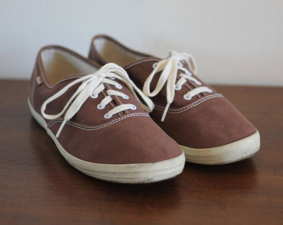 Vintage Brown Keds Women's Size 8.5 Cotton Summer Shoes