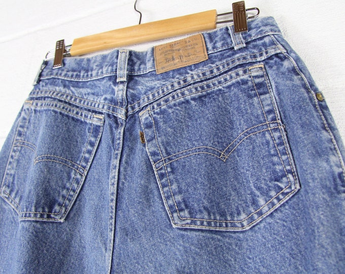 80s High Waisted Jeans Levi's Women's Vintage Denim Made in USA 29 Waist