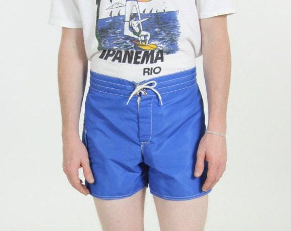 Men's Blue Summer Shorts Swim Trunks Surf Size Medium 31 32