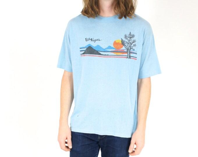 Vintage Las Vegas Desert Sunset Tourist Tee Vintage 70s 80s 90s Tshirt Size Medium Large