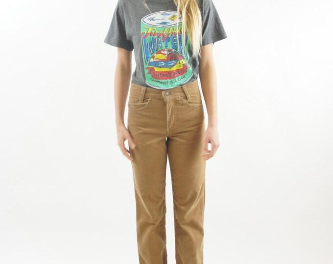 "80's Soft Grey ""Just Add Water"" LAGUNA Brand T-Shirt / Tee Shirt Vintage Size Small"