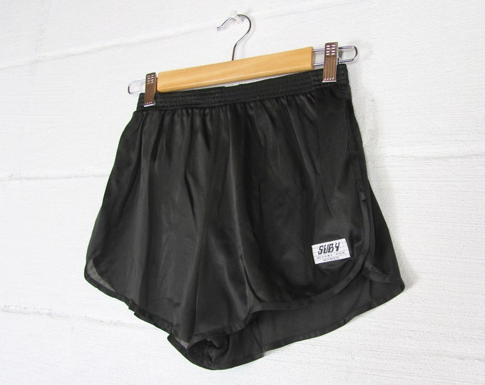 Women's Black 80's Athletic Running Shorts Vintage Size Small Made in the USA