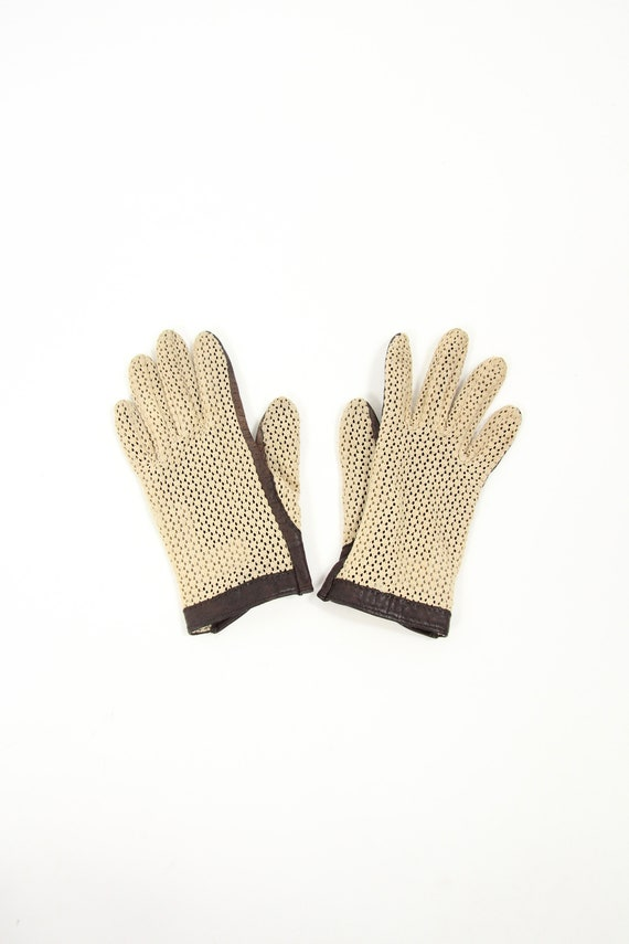 Women's Gloves Woven Leather Driving Gloves
